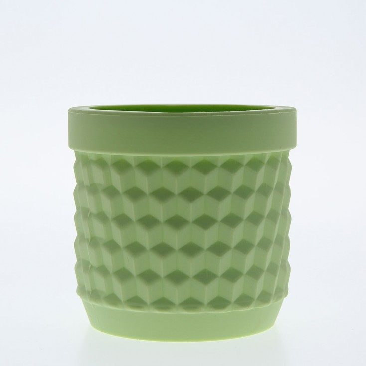 Silicone Flower Pot - Light Green