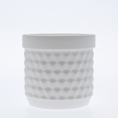 Silicone Flower Pot - White