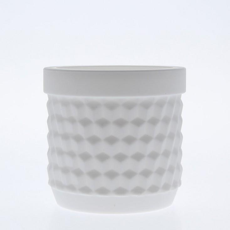 Silicone Flower Pot - White