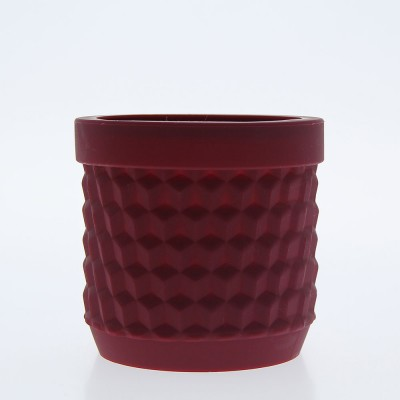 Silicone Flower Pot - Bordeaux