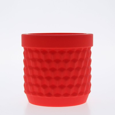 Silicone Flower Pot - Red