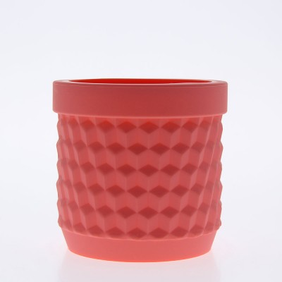 Silicone Flower Pot - Coral