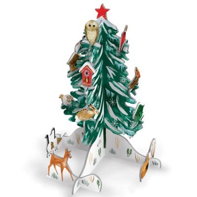 Roger la Borde Christmas Conifer Pop & Slot Advent Calendar Tree