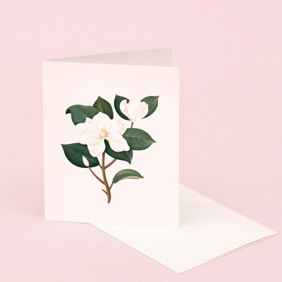 Clap Clap Botanical Card With Magnolia Scent