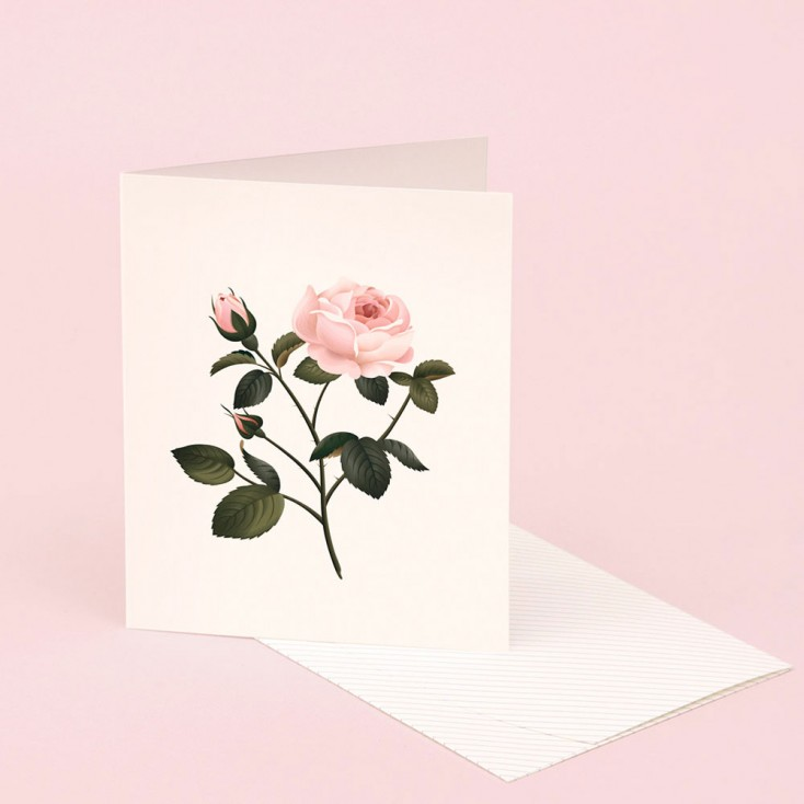 Clap Clap Botanical Card With Rose Scent