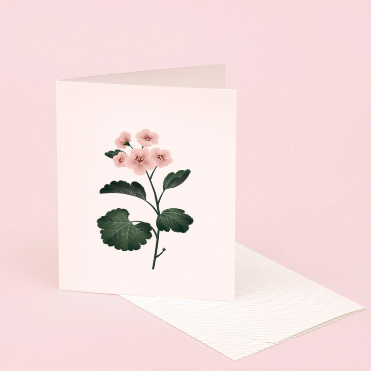 Clap Clap Botanical Card With Geranium Scent