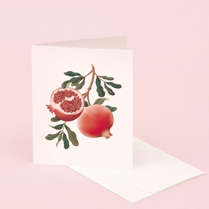 Clap Clap Botanical Card With Pomegranate Scent