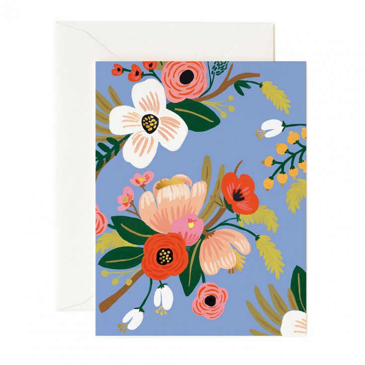 Rifle Paper Greeting Card - Floral Periwinkle