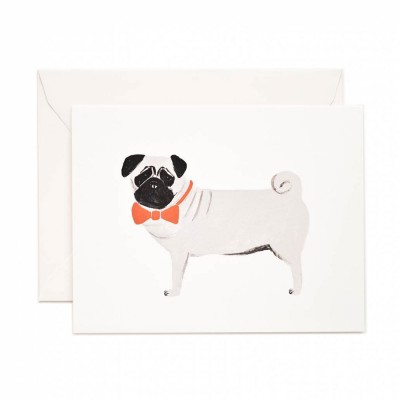 Rifle Paper Greeting Card - Pug