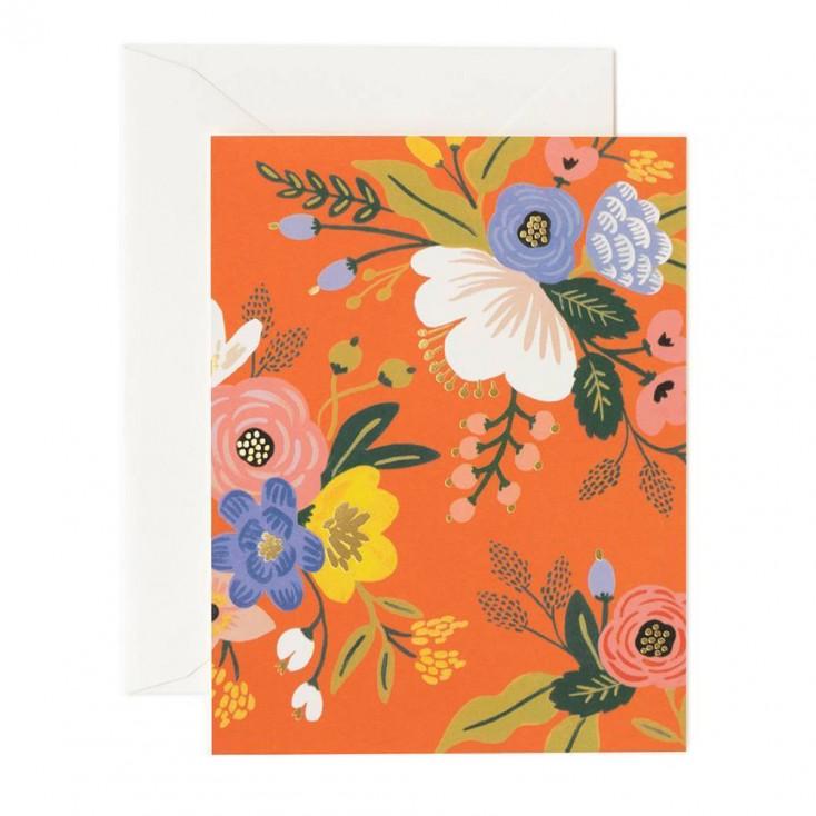 Rifle Paper Greeting Card - Floral Orange