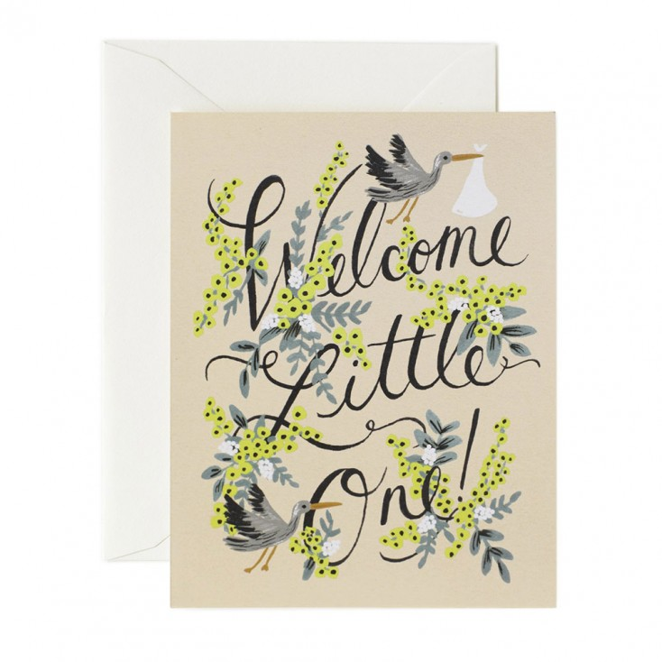 Rifle Paper Greeting Card - Welcome Little One