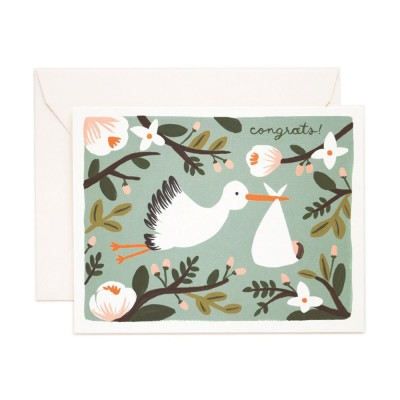 Rifle Paper Greeting Card - Congrats Stork