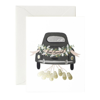 Rifle Paper Greeting Card - Just Married Getaway