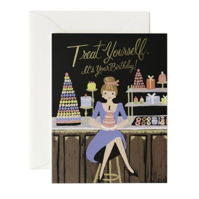 Rifle Paper Greeting Card - Treat Yourself