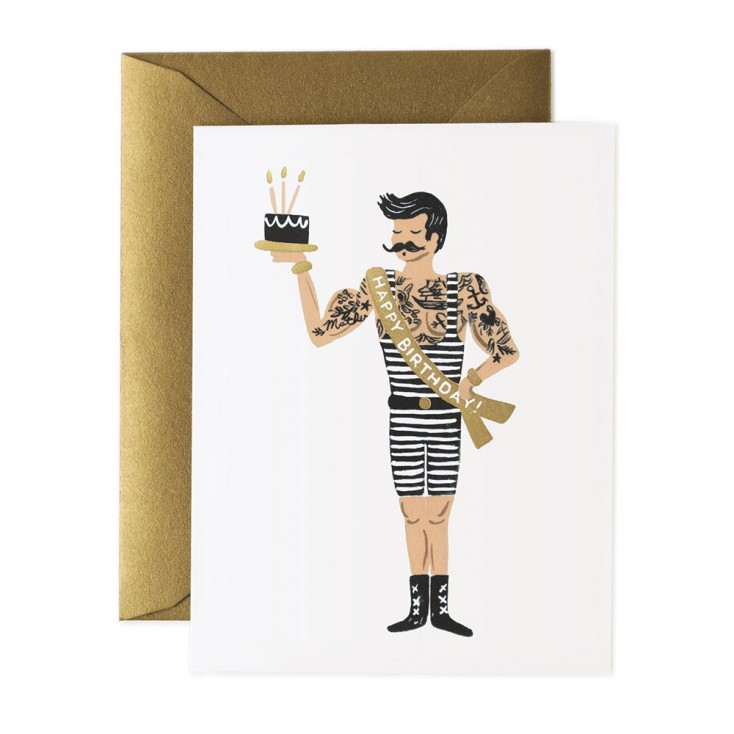 Rifle Paper Greeting Card - Strongman