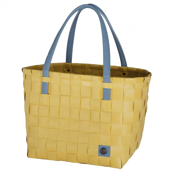 Handed By Colour Block Shopper - Mustard