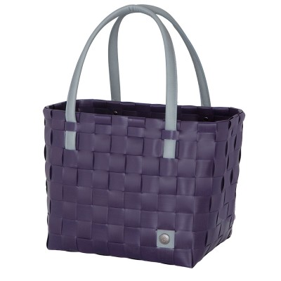 Handed By Colour Block Shopper - Aubergine