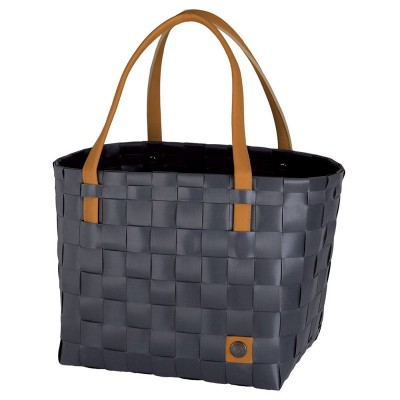 Handed By Colour Block Shopper - Dark Grey