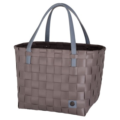Handed By Colour Block Shopper - Stone Brown