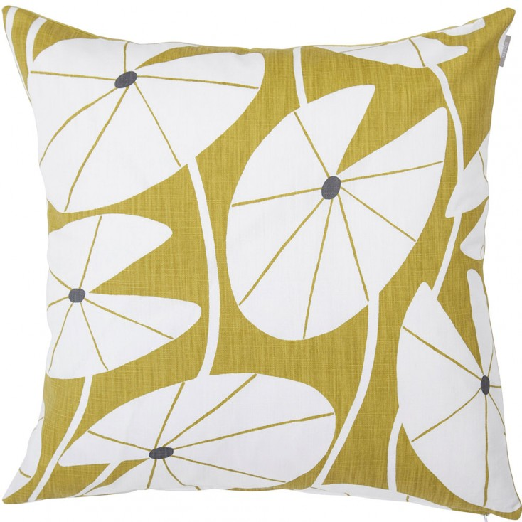 Spira Grodblad Cushion - Mustard