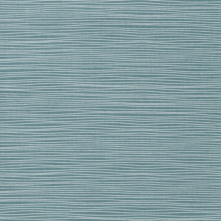 Scandinavian Fabric - Spira Line Smoke Blue