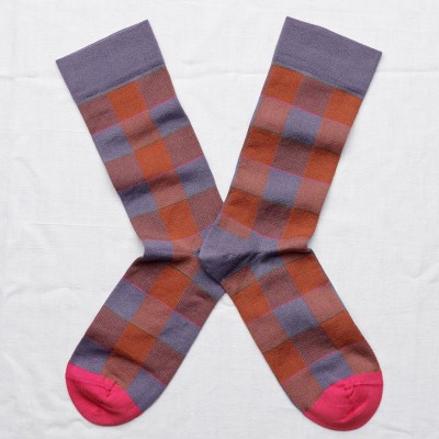 Bonne Maison Socks - Nocturnal Check