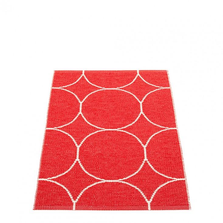 Pappelina Boo Runner - Red & Vanilla 70 x 100 cm