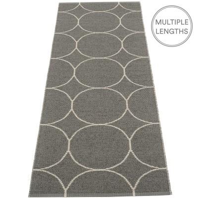 Pappelina Boo Runner - Charcoal & Linen 70 x 200 cm
