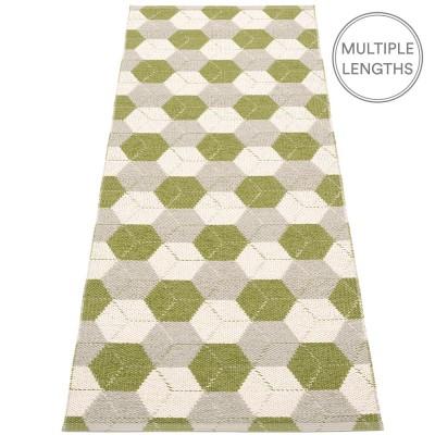 Pappelina Trip Runner - Olive : Linen : Vanilla 70 x 240 cm