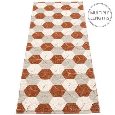 Pappelina Trip Runner - Rust : Linen : Vanilla 70 x 240 cm