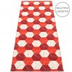 Pappelina Trip Runner - Berry : Coral Red : Vanilla 70 x 240 cm