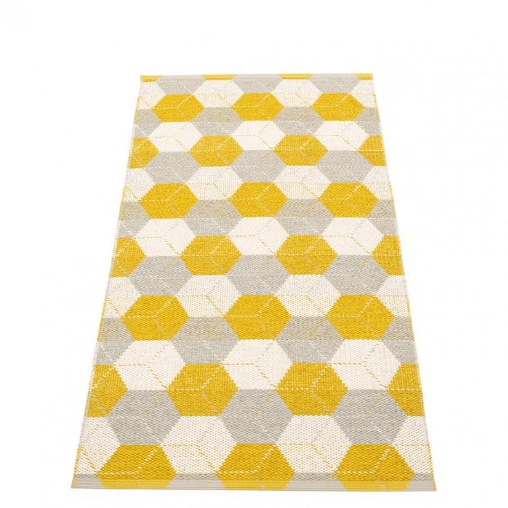 Pappelina Trip Runner - Mustard : Linen : Vanilla 70 x 150 cm