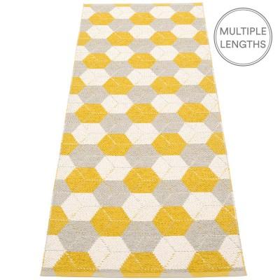 Pappelina Trip Runner - Mustard : Linen : Vanilla 70 x 240 cm