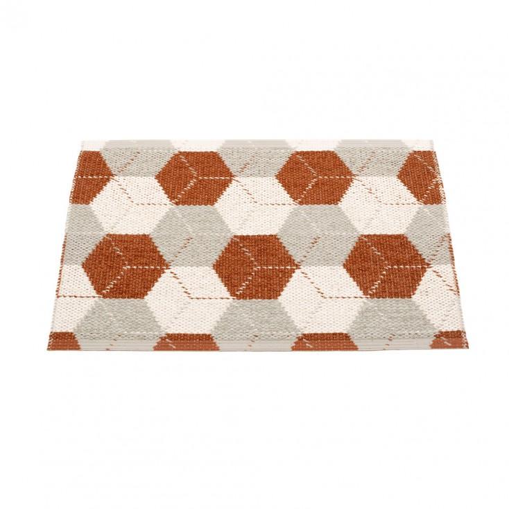 Pappelina Trip Small Mat - Rust 70 x 50 cm