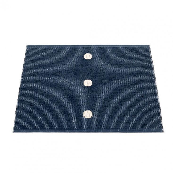 Pappelina Peg Small Mat - Dark Blue & Vanilla 70 x 60 cm