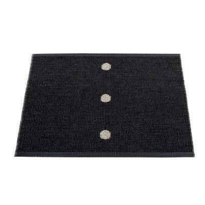 Pappelina Peg Small Mat -Black & Linen 70 x 60 cm