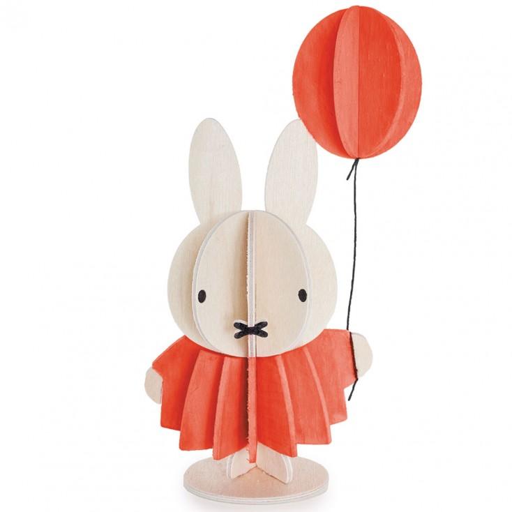 Lovi Birch Ply Miffy & Balloon