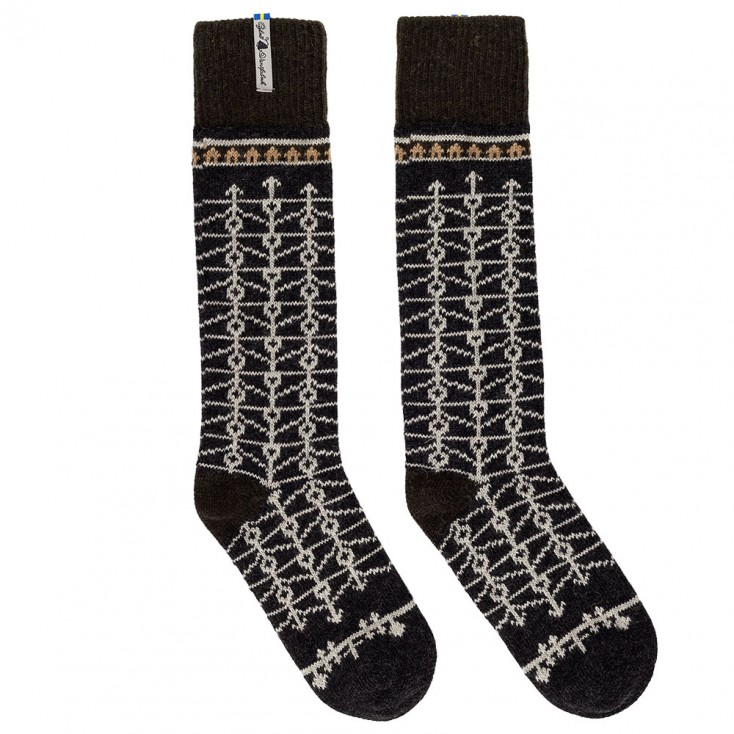 Öjbro Swedish Wool Socks - Eksharad Soot