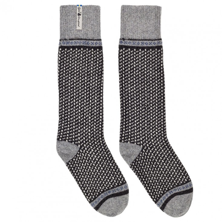 Öjbro Swedish Wool Socks - Skaftö Soot