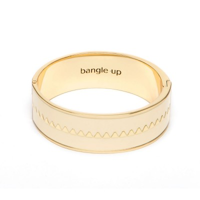 Bangle Up Bollystud Bracelet - White Sand