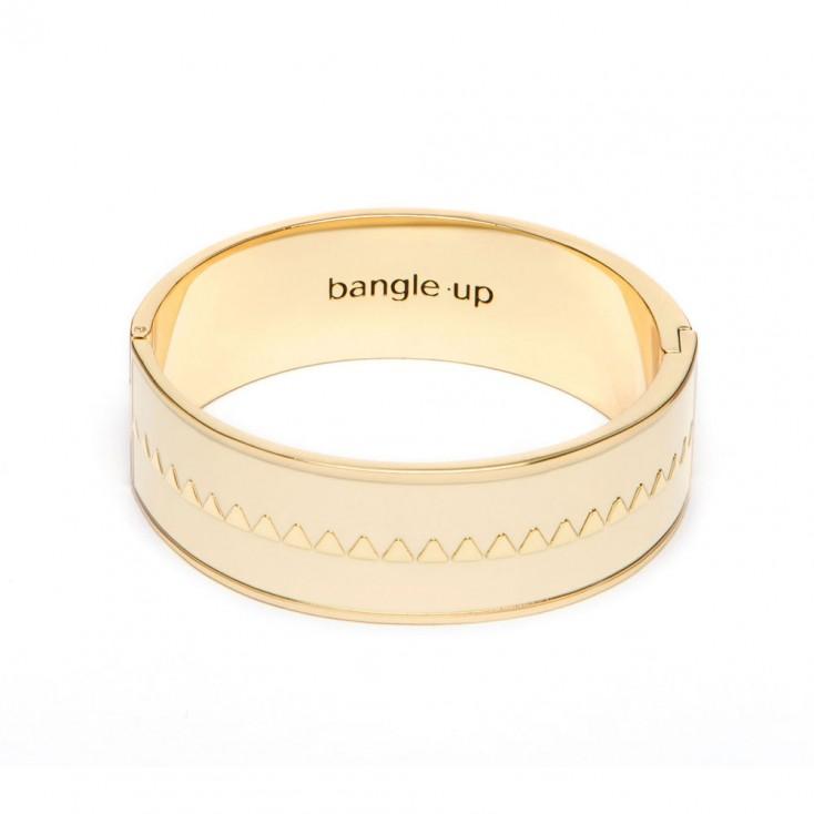 Bangle Up Bollystud Bracelet - White Sand