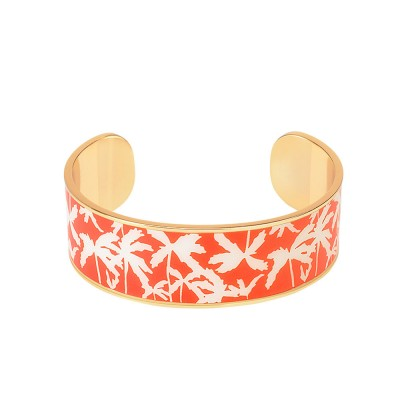 Bangle Up Venice Enamel Cuff - Tangerine