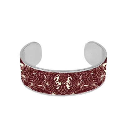 Bangle Up Cancan Enamel Cuff - Burgundy