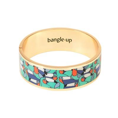 Bangle Up Jangala Hinged Enamel Bracelet - Pool Blue