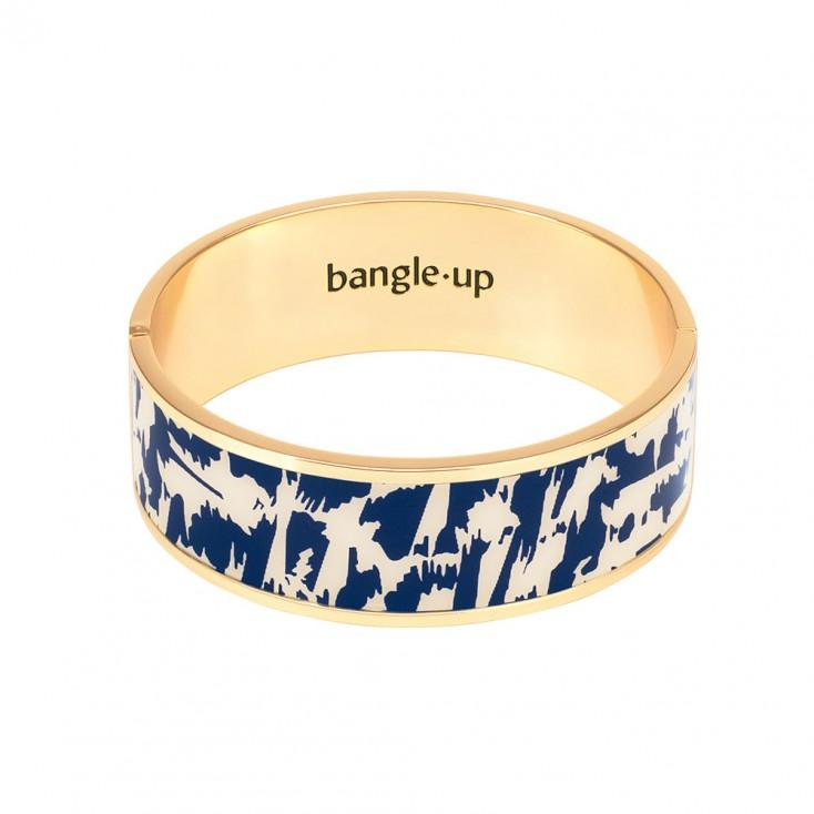 Bangle Up Joy Hinged Enamel Bracelet - Night Blue