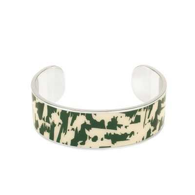 Bangle Up Enamel Cuff Bangle - Wolf Green