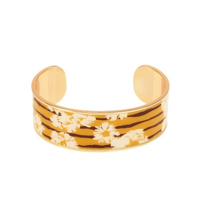 Bangle Up Swann Enamel Cuff Bangle - Saffron Yellow
