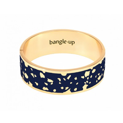 Bangle Up Lucy Hinged Enamel Bracelet - Night Blue