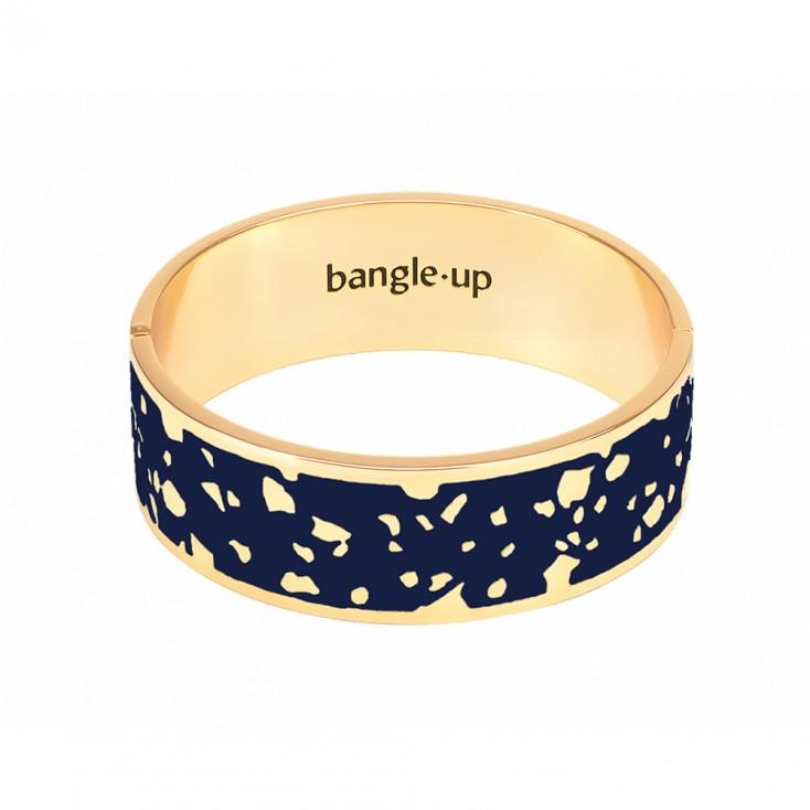 Bangle Up Lucy Hinged Enamel Bracelet - Night Blue