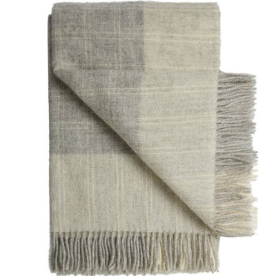 Bornholm Scandinavian Wool Throw - Shaded Grey